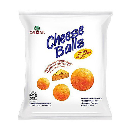 Snack Cheese Balls Oriental 112G ( 8 Gói x 14G)
