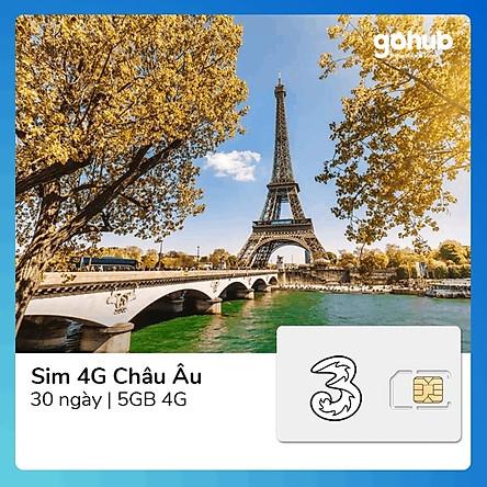 Gohub - Sim 4G Châu Âu + Thế giới 5GB (Gọi + DATA)