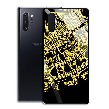 Ốp Lưng Kính Cường Lực cho điện thoại Samsung Galaxy Note 10 Plus - 0366 7820 TRONGDONG02 - Trống Đồng - Hàng Chính Hãng