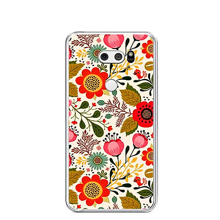 Ốp lưng dẻo cho điện thoại LG V30 - 0172 FLOWER04 - Hàng Chính Hãng