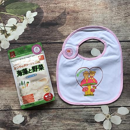 Cháo Gạo Ăn Dặm Matsuya - 60gram  - Tặng 1 yếm ăn dặm cho bé - Cháo 7 Cà chua chín và nấm