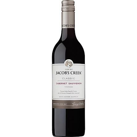Rượu vang đỏ Jacob's Creek Classic Carbernet Sauvignon 750ml 12.8% - 14.8% - Không hộp