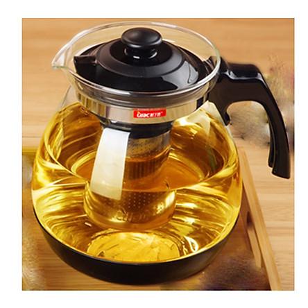 Ấm pha trà thủy tinh có lõi lọc inox - Hàng chính hãng