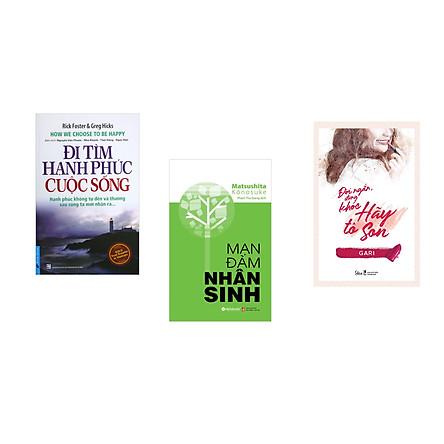 Combo 3 cuốn sách: Đi Tìm Hạnh Phúc Cuộc Sống + Mạn đàm nhân sinh + Đời ngắn đừng khóc hãy tô son