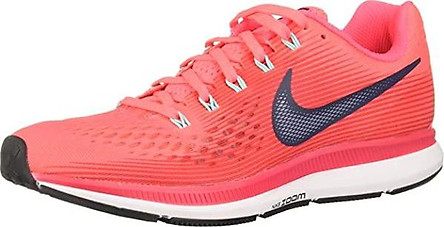Nike Women's WMNS Air Zoom Pegasus 34 (5, HOT Punch/Thunder Blue)