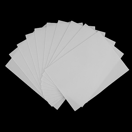 10pcs 6*8in/15x20cm Plain Blank Tattoo Practice Skin Training Learning Sheet for Machine Supply Double Sided