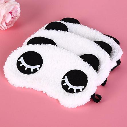 Tấm bịt mắt ngủ hình gấu panda kute nhiều màu, chất liệu bông mềm mại-giao màu ngẫu nhiên