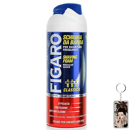 Bọt cạo râu Figaro Foam 400ml tặng kèm móc khóa