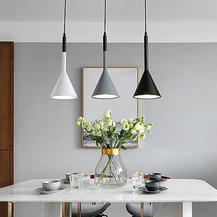 Đèn treo thả trần cao cấp trang trí bàn ăn cao cấp VERSION 3 bóng ngang