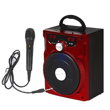 Loa Kẹo Kéo Có Mic Hát Karaoke Nghe Nhạc Bluetooth, Loa bluetooth, loa kraoke cắm thẻ nhớ, nghe đài FM Siêu Hay - Tặng kèm Mic