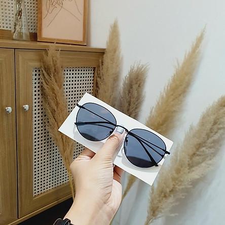 Kính mát thời trang nữ, kính râm chống nắng bảo vệ mắt form tròn đi biển