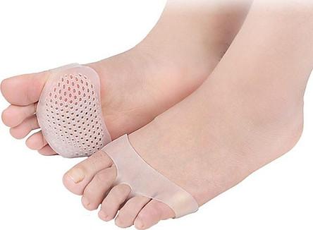 Lót giày silicon bảo vệ mũi chân, miếng đệm lót chống sốc bàn chân trước - phụ kiện giày cao gót ( giao màu ngẫu nhiên )