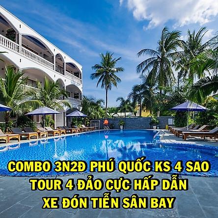 Combo 3N2Đ Phú Quốc Brenta Hotel 4 Sao + Tour 4 Đảo Bằng Cano Từ Khách Sạn + Đón Tiễn Sân Bay