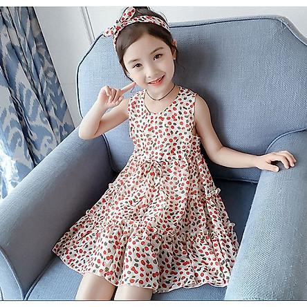 Đầm maxi von dễ thương cho bé gái từ 13 đến 43 kg - DB68