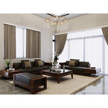 Sofa gỗ óc chó phòng khách lớn - sofa 2 + 3 chỗ - SF/001