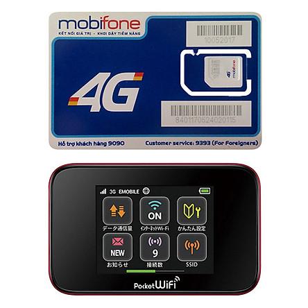 Bộ Phát Wifi Di Động Huawei GL10P 3G 42Mbps/75Mpbs 2400mAh + Sim 3G/4G Mobifone C90N - Hàng Nhập Khẩu