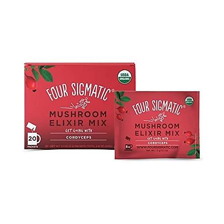 Four Sigmatic Cordyceps Mushroom Elixir, USDA Organic, Energize, Vegan, Paleo, 20 Count