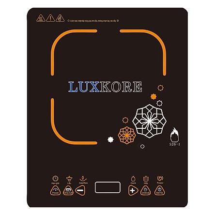 Bếp Điện Từ Đơn Luxkore S26-1 + Tặng 1 Nồi Inox Nắp Kính Đa Năng - Hàng chính hãng