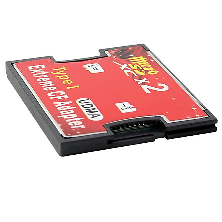 Dual Port SD to CF Card Adapter MMC SDHC SDXC to Standard Compact Flash Type I Card