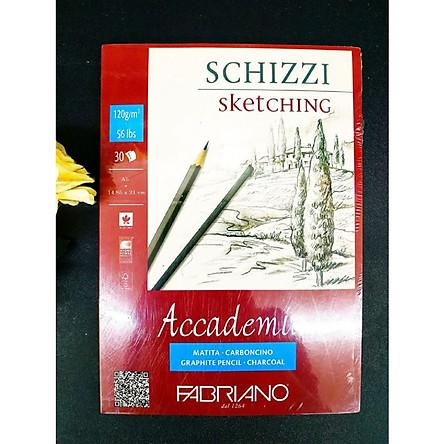 Sổ vẽ Fabriano a4 gáy dán 120gsm