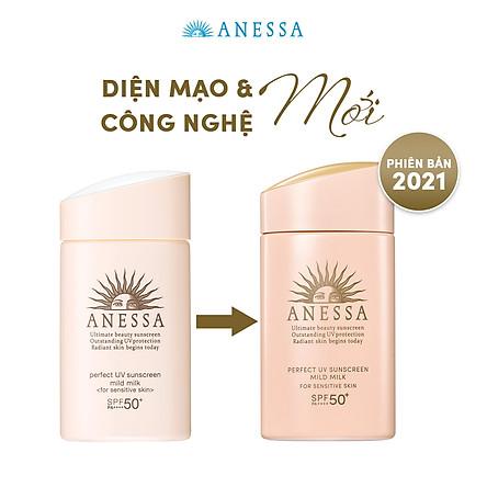Sữa chống nắng dịu nhẹ cho da nhạy cảm và trẻ em Anessa SPF 50+ PA++++ 60ml