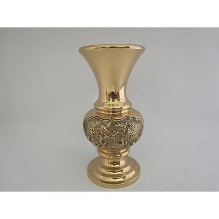 Bình lọ Mai liễu xòe 18,5cm bằng đồng nặng
