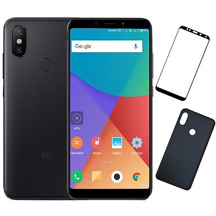 Bộ Điện thoại Xiaomi Mi Max 3 (64GB/4GB) (Đen) + Dán cường lực 5D full màn (Đen) + Ốp lưng - Hàng nhập khẩu