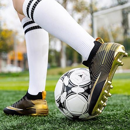 Giày đá banh, giày đá bóng đinh cao dành cho sân cỏ tự nhiên cao cấp Hamishu-D225