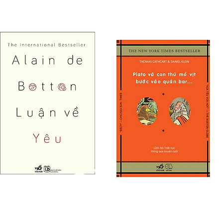 Combo 2 cuốn sách: Luận về yêu   + Plato và con thú mỏ vịt bước vào quán bar