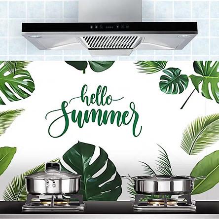 Cuộn 3 Mét Decal Giấy Dán Bếp Tráng Nhôm Cách Nhiệt Hello Summer (3 Mét Dài x 0.6 Mét Rộng)