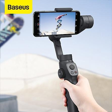 Tay cầm chống rung đa năng cho điện thoại Baseus Gimbal Stabilizer ( 3-Axis Handheld , w/Focus, Pull & Zoom, Smartphone) - Hàng Chính Hãng