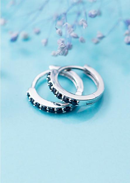 Bông Tai Nữ | Bông Tai Nữ Bạc Đơn Giản B2425 - Bảo Ngọc Jewelry