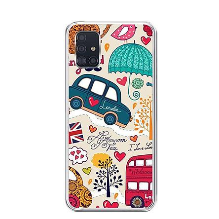 Ốp lưng điện thoại Samsung Galaxy A51 - Silicon dẻo - 0211 LONDON02 - Hàng Chính Hãng