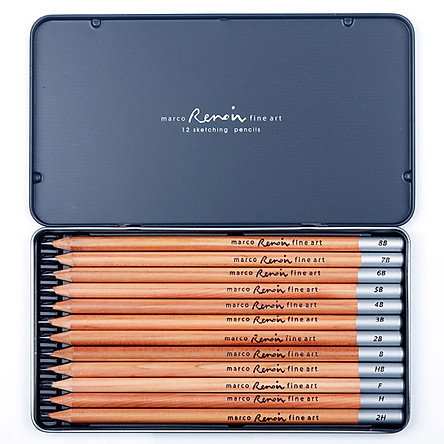 Bút Chì Chuốt Marco 3000-12Tn Dùng Vẽ Tranh