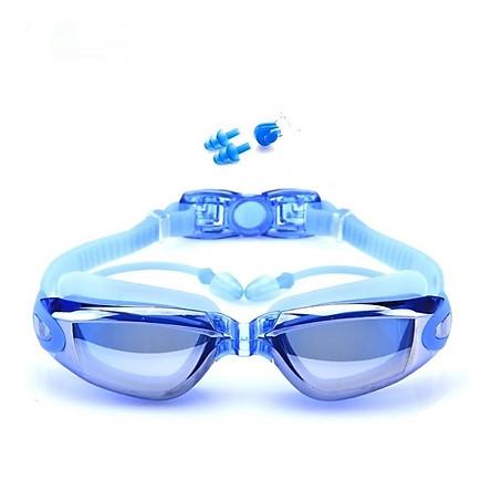 Kính bơi tráng GƯƠNG 6615 gồm Bịt Tai + Kẹp Mũi, kính bơi ngăn UV thời trang cao cấp.