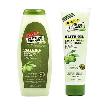 Dầu gội dưỡng tóc phục hồi tóc yếu, suôn mượt Olive Palmer's Olive Oil Formula (400ml) + Tặng 1 dầu xã Palmer's Olive 250ml