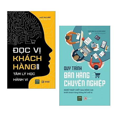 Combo: Đọc Vị Khách Hàng Bằng Tâm Lý Học Hành Vi + Quy Trình Bán Hàng Chuyên Nghiệp (Sách marketing - bán hàng đỉnh cao)