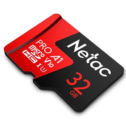 Thẻ nhớ microSDXC Netac Pro 32GB U3 4K V30 98MB/s - chuyên camera, máy quay và điện thoại (Hàng chính hãng)
