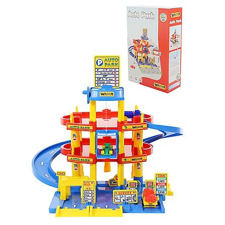 Bộ đồ chơi bãi đỗ xe 3 tầng – Wader Toys
