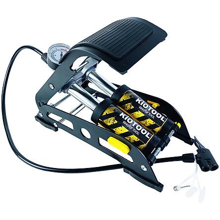 Bơm xe máy KIO-02 Phiên bản Xanh - Bơm xe đạp chân - Bơm đạp chân 2 ống đa năng - Bơm hơi đạp chân mini Xe Đạp, Xe Máy, Xe Ô tô, Xe Hơi Đa Năng Dễ Dàng Xếp Gọn thân hợp kim siêu bền, hỗ trợ cả van Mỹ và van Pháp Thương hiệu KIOTOOL