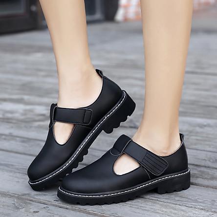 Giày lười nữ đế bằng da thật mềm mại với phụ nữ