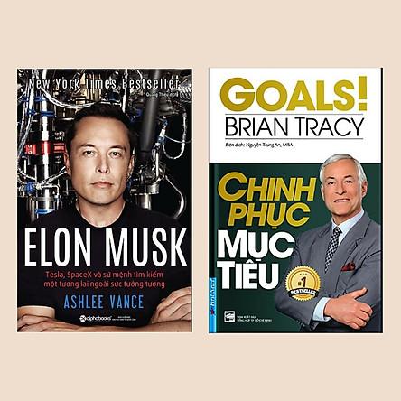 Combo Sách Kinh Tế Bán Chạy: Elon Musk: Tesla, SpaceX Và Sứ Mệnh Tìm Kiếm Một Tương Lai Ngoài Sức Tưởng Tượng + Chinh Phục Mục Tiêu (Bộ 2 Cuốn Cẩm Nang Vàng Trong Kinh Doanh)