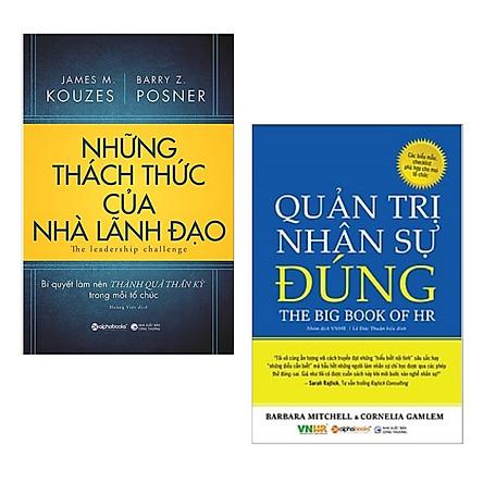 Combo 2 Cuốn Sách Dành Cho Nhà Lãnh Đạo: Những Thách Thức Của Nhà Lãnh Đạo + Quản Trị Nhân Sự Đúng / Sách Quản Trị Lãnh Đạo - Quản Trị Nhân Lực (Tặng Kèm Bookmark Happy Life)
