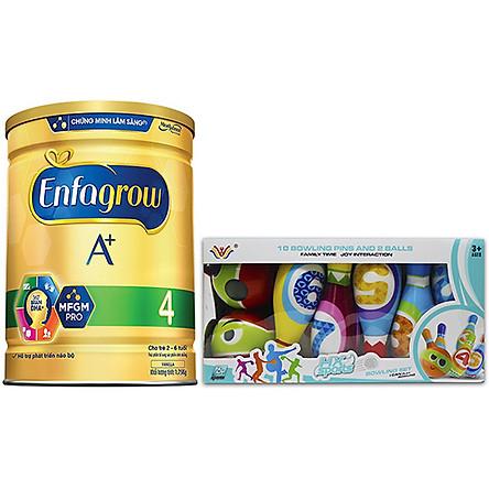 Combo 1 Lon Sữa Bột Enfagrow A+ 4 1.75kg Tặng Bộ Đồ Chơi Bowling