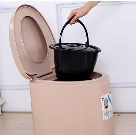 Bô vệ sinh di động cho người già, người ốm, người đi lại kém, bà bầu + tặng một cọ vệ sinh