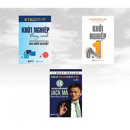 Bộ sách 3 cuốn sách Khởi Nghiệp: ( Khởi Nghiệp 0 – 1: Những Điều Không Thể Bỏ Qua Khi Khởi Nghiệp + Khởi Nghiệp Thông Minh – Đừng Để Những Điều Này Khiến Bạn Thất Bại Khi Khởi Nghiệp + Ở Đâu Có Phàn Nàn Ở Đó Có Cơ Hội: 14 Bài Học Khởi Nghiệp Jack Ma Dành Tặng Các Bạn Trẻ )
