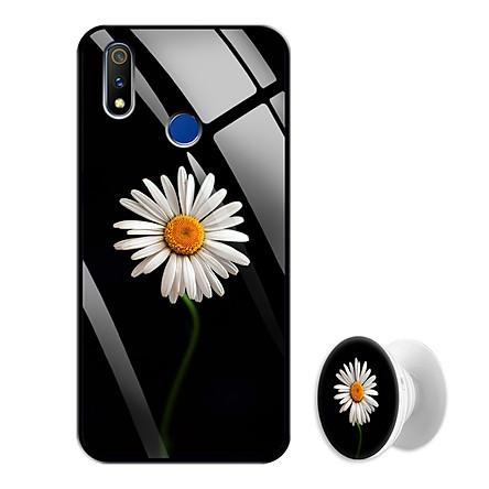 Ốp Lưng Kính Cường Lực cho điện thoại Realme 3 Pro - 0367 8033 CUCHOAMI08 - Tặng Giá Đỡ Điện Thoại Đa Năng Cùng Mẫu Hình - Hàng Chính Hãng
