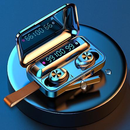 Tai Nghe Bluetooth True Wireless VINETTEAM F9 PRO 5.0  Nâng Cấp Dock Sạc có Led Báo Pin Kép -Chống Nước - Chống ồn - Tích Hợp Micro - Tự Động Kết Nối - Nhỏ gọn - Âm Thanh 8.0 HD - Tương Thích Cao Cho Tất Cả Điện Thoại -4132-Hàng Chính Hãng