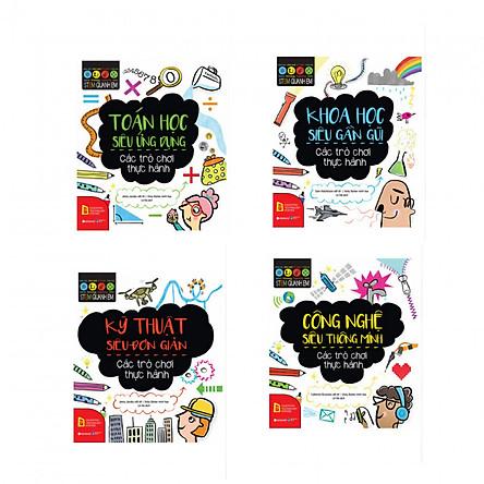 Combo Stem Quanh Em: Toán Học Siêu Ứng Dụng + Khoa Học Siêu Gần Gũi + Kỹ Thuật Siêu Đơn Giản + Công Nghệ Siêu Thông Minh (Sách Thiếu Nhi, Kiến Thức Bách Khoa) Tặng kèm bookmark thiết kế