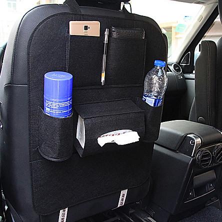 Túi đựng đồ treo lưng ghế ô tô 6 ngăn tiện dụng màu ngẫu nhiên